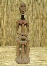 """African Dogon Male Seated Figure From Mali 39"""" Tall"""