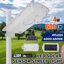 Commercial Outdoor Solar Power LED Street Light IP65 Sensor Post Lamp