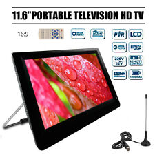 "Portable 11.6"" Digital Color TFT-LED HD TV Player Analog Television MP3 4 Player"