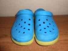 Crocs Blue & Greenish Yellow  Men 9 Women 11