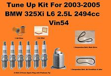 Tune Up Kit For 2003-2005 BMW 325Xi L6 2 Spark Plug, Serpentine Belt, Air Filter