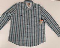 ST JOHNS BAY Outdoor Angler Fishing Shirt Mens Long Sleeve PLAID Size X-LaRGENWT