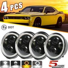 DOT 5.75 5-3/4 inch Round LED Headlight 4PC Halo Hi Lo For Dodge Charger Coronet