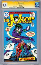 THE JOKER #2 CGC-SS 9.4 SIGNED *BATMAN LEGEND JERRY ROBINSON* JOKER CREATOR 1975