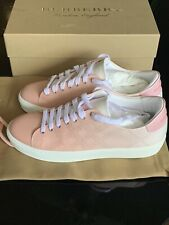 BURBERRY Westford Leather Perforated Sneakers 38EU 8US Sugar Pink SOLD OUT NEW