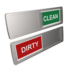 Dishwasher Magnet CLEAN & DIRTY Sign Indicator | Available in Black or Silver |