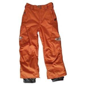Burton Boys Size Medium Kids Orange Dryride Snowboard Ski Nylon Pants Winter