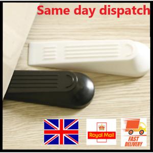 Door Stop Slam Stopper Wedge Jam Home Office White & Black 1-3-5 pieces UK