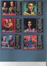 Star Trek TOS The Original Series 6 card Lot Gold G59 G63 G69 G72 G74 G76 Nm/Mt