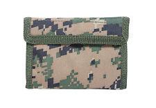 Commando Army Wallet - Military Style - Black Camo ACU or Woodland Digital