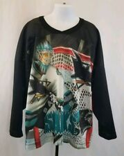 Vintage CCM Boy's San Jose Sharks Long Sleeve Hockey Jersey Shirt Youth S/M