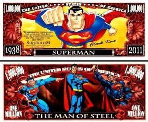 Pack of 50 - Superman Series DC Comics Collectible 1 Million Dollar Bills