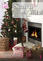 Scandi Knits Book 1 King Cole Christmas Knitting Pattern Stocking Cushion Wreath