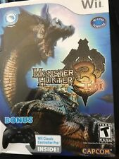 Monster Hunter 3 Tri Collectors Edition Wii w/ Controller Pro- BRAND NEW SEALED