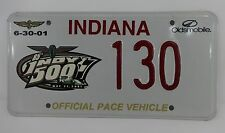 Official 2001 Indianapolis 500 Pace Car License Plate Oldsmobile Bravada IMS
