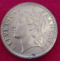 Moneda De 5 Francos Lavrilier 1946-C Calidad EBC (RARA)