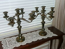Rare Pair Vintage Candelabras 5 Candle, 4 Curved Arm - Goldfelder Silver