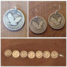 Standing Liberty Quarter Coin Jewelry Set-Bracelet, Earrings & Pendant! .925
