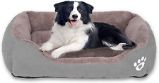 New listing Utotol Warming Dog Beds, Rectangle Washable Pet Bed with Firm Breathable Cotton