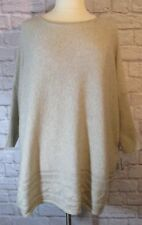 NEW 2X Style & Co Beige Cable Hem Dolman Sleeve Sweater   #6555