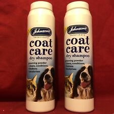 2 x Grooming Deodorise Dry Powder Shampoo Cats Kitten Cleans Conditions Freshens