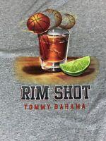 "Tommy Bahama Grey "" Rim Shot"" SOFT T Shirt Tee XL - Grey NEW"