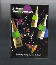 Vintage Collectible 1985 Sparkling Recipes from J. Roget Champagne Booklet