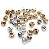 100pcs Antiqued Tibet Silver Loose Round Wheel Spacer Beads DIY Jewelry Finding