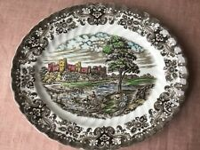SERVING PLATTER LARGE PLATE OLDE COUNTRY CASTLES BRITISH ANCHOR ENGLAND POTTERY