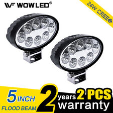 Wow - 2x 24 W LED Luz de trabajo lámpara de inundación Oval Offroad trabajo luz SUV TRUCK 4X4