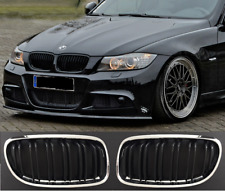 BMW 3 series E90 E91 LCI 08- chrome black front grilles grills double twin spoke