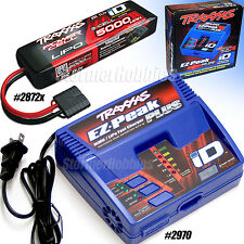 Traxxas EZ-PEAK PLUS iD Charger with (1) 3S 11.1V 25C 5000mAh Lipo SLASH 4x4