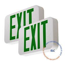 2Pack Green LED Emergency Exit Light Sign - Modern Battery Backup UL924 LEDGBBJR