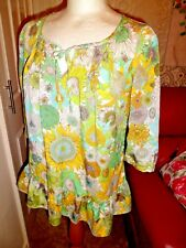 ICONIC Liberty of London for Target  Floral Floaty Smock Blouse, XS  Immaculate