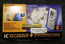 Sony ICD-R100PC Portable Digital Voice Recorder + PC LINK SOFTWARE -b12