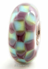 Authentic Trollbeads Glass Turquoise Purple Chess 61368 (Incl. Orig. Pkg)