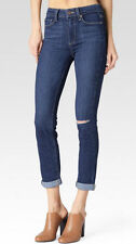 Paige Hoxton Crop Rollup High-Rise Skinny Jeans Electra Wash Size 28 NEW $199