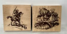 Embossing Arts NATIVE AMERICAN Indian Summer Camp Scouting Horse Rubber Stamps