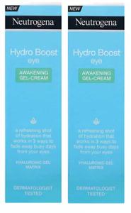 Neutrogena Hydro Boost Eye Awakening Gel Cream, 15 ml (2 Pack)