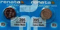 395 RENATA WATCH BATTERIES SR927SW (2 piece) New packaging Authorized Seller