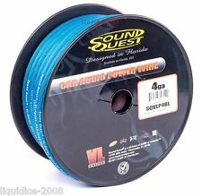 4 GA GAUGE AWG 20mm² BLUE CAR AUDIO POWER CABLE WIRING CABLING SOLD BY 16 FEET