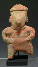 Pre Columbian West Mexico Nayarit Pottery Figure Standing + custom base
