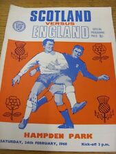 24/02/1968 Scotland v England [At Hampden Park] (stained corner, team changes).