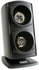 Automatic Watch Winder Double 2 Watch Display Case Silent 4 Settings Versa Black