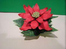 LENOX RED POINSETTIA Flower Figurine NEW in BOX