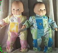 "Doll Clothes Baby Made 2 Fit American Girl 15"" inch Bitty Twins Pajamas ABC Boy"