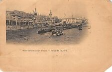 B63416 Paris Rive droite de la Seine Pont de l'Alma boats  corner cut france