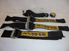 SABELT BLACK 4 PT RACING SEAT BELTS-RACING-RAT ROD-MUD-DIRT-ENDURO-DEMO DERBY
