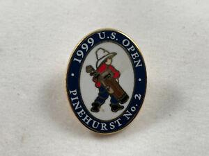 Vintage 1999 US Open Pinehurst No. 2 - Pinback Pin Label Hat Golf