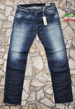 Diesel Mid Rise Distressed Regular Size Jeans for Men